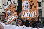 Protesta akcijas Londonā par un pret Brexit