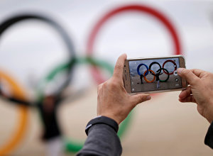 Олимпийские кольца в Рио