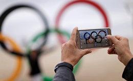 Олимпийские кольца в Рио. Архивное фото