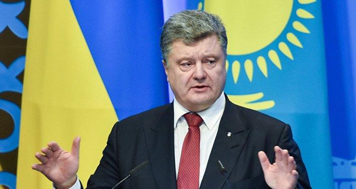 Ukrainas prezidents Petro Porošenko. Foto no arhīva