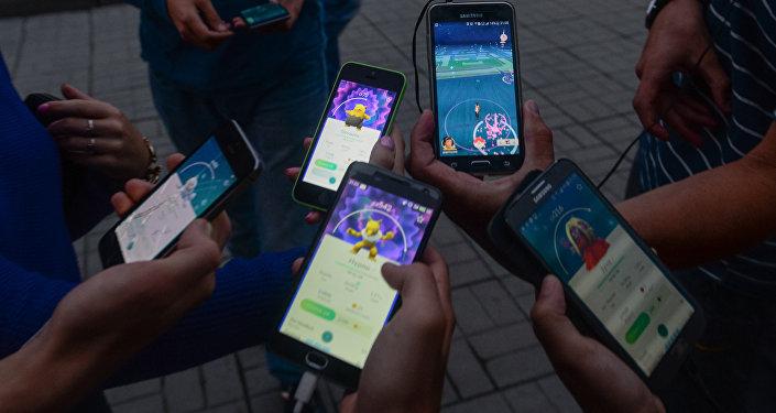 Kompānijas Nintendo izstrādātā spēle Pokemon Go. Foto no arhīva