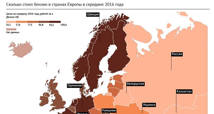 Рейтинг стран Европы: где самый дешевый и самый дорогой бензин