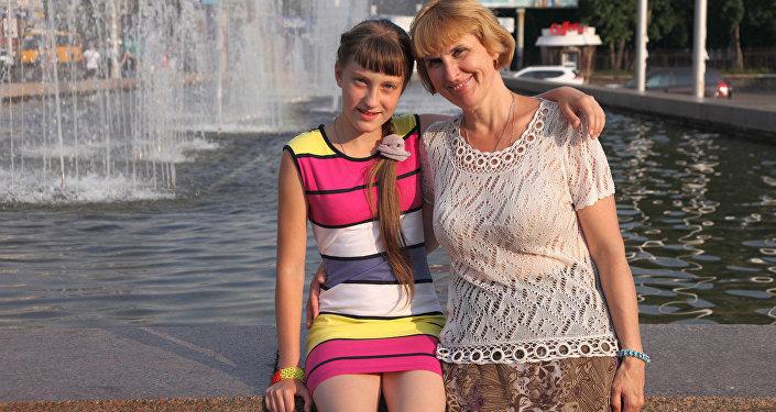 Анастасия Леонович и дочь Дарья