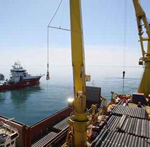 Gāzes vada būvdarbi Melnajā jūrā