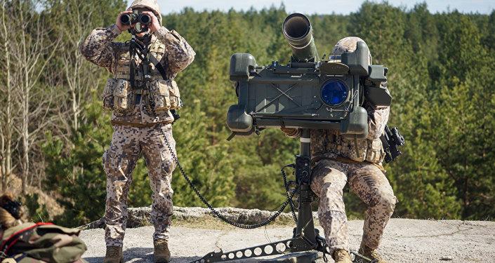 Latvijas bruņoto spēku pretgaisa aizsardzības sistēma RBS-70. Foto no arhīva