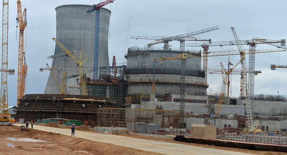 AES būvdarbi Astravjecā