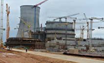 Baltkrievijas AES būvdarbi. Foto no arhīva