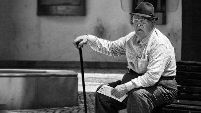 Cienījama vecuma vīrietis