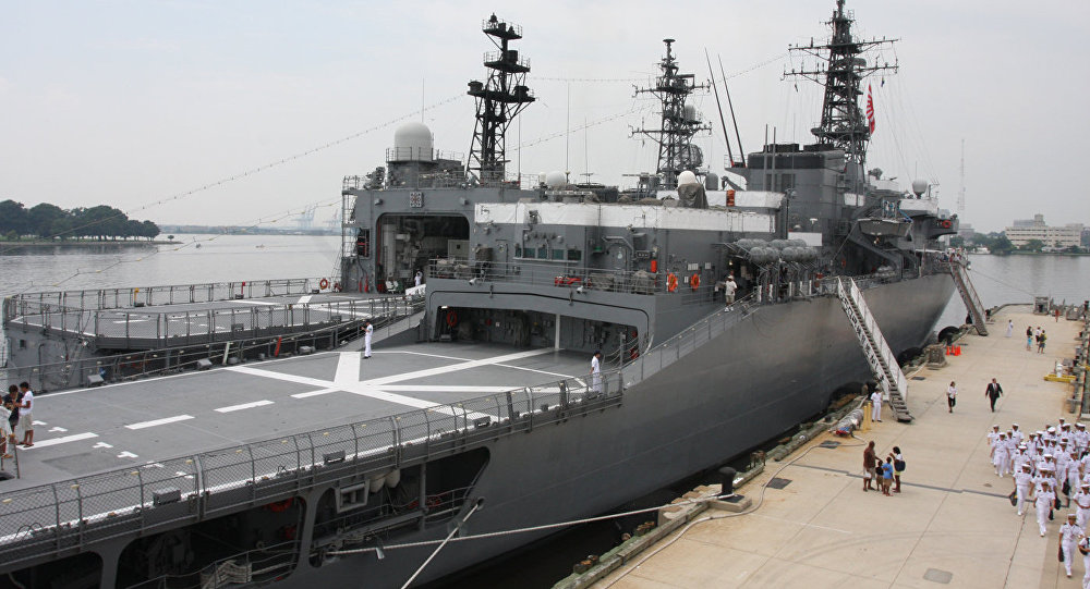 Эскадра Морских сил самообороны Японии приближается кЛитве