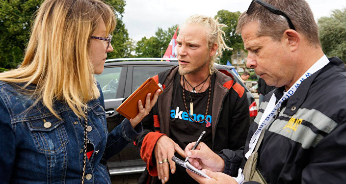 Один из участников автопробега Дружба - Бьорн