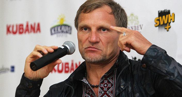 Лидер группы Вопли Видоплясова Олег Скрипка
