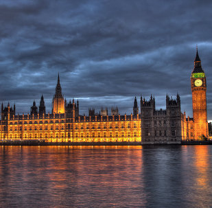 Здание британского парламента, архивное фото