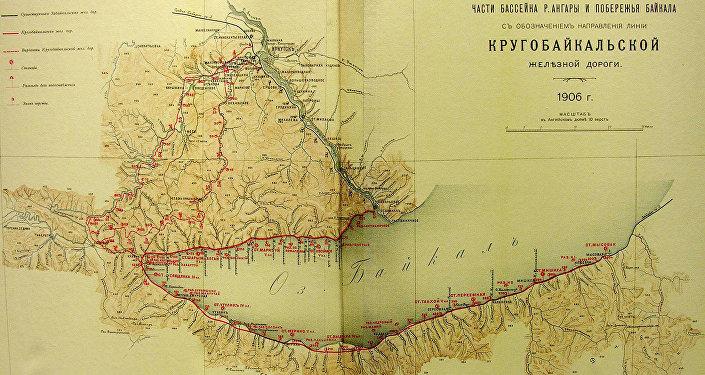 Vecā Baikāla dzelzceļa maršruta karte – pirms Angaras HES celtniecības