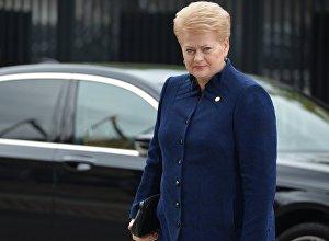 Lietuvas prezidente Daļa Grībauskaite