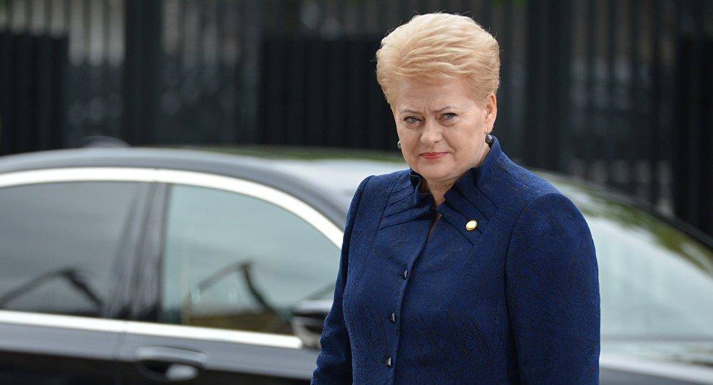 Президент Литвы Даля Грибаускайте, архивное фото