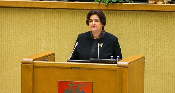 Lietuvas Seima spīkere Loreta Graužiniene. Foto no arhīva.