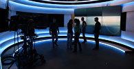 В студии телеканала Euronews, архивное фото