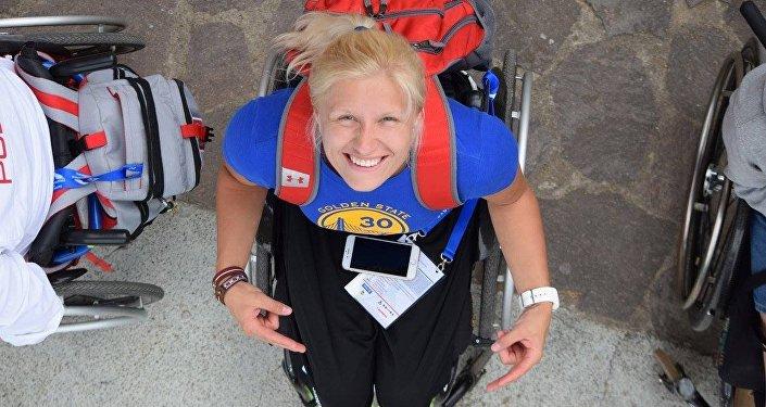Диана Дадзите, золотая медаль на Паралимпийских играх. Архивное фото