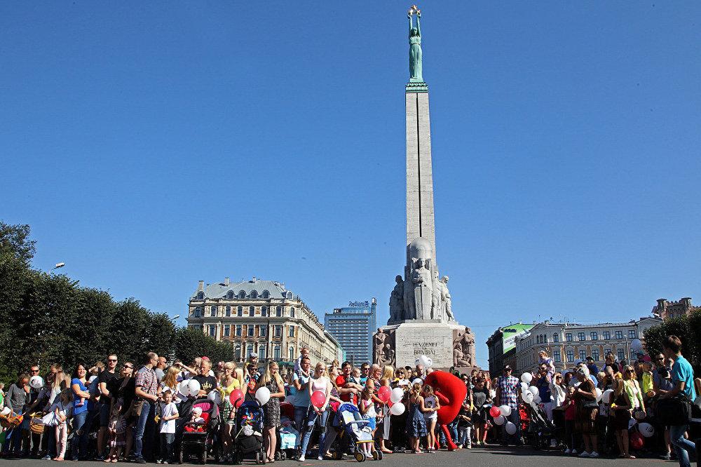 Tēva dienas svinēšana Rīgā.