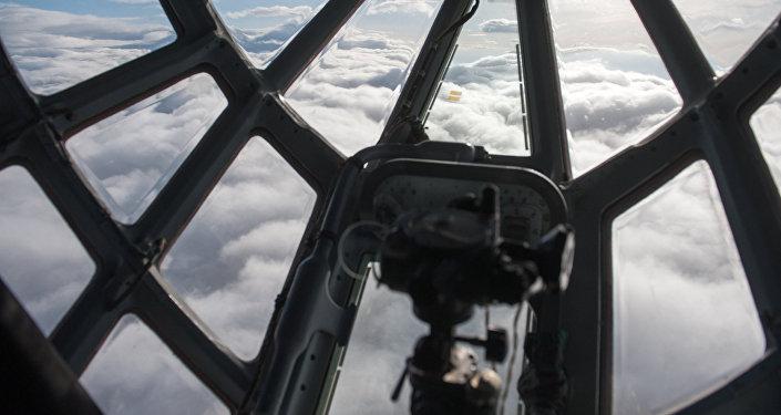 Вид из нижней кабины самолета