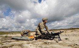 Amerikāņu desants mācību Bayonet Strike laikā Ādažos. Foto no arhīva