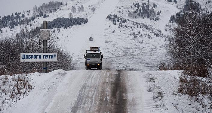 Зима в Сибири. Архивное фото