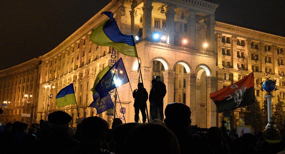 Годовщина событий на Майдане в Киеве. Архивное фото