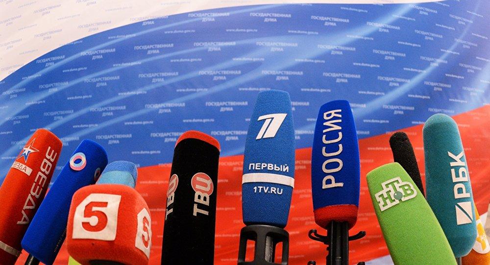 Krievijas telekanālu mikrofoni