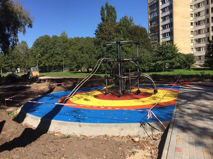 Строительство армянского парка в Риге