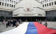Krievijas Federācijas Valsts karoga dienas svinēšana Simferopolē. Foto no arhīva