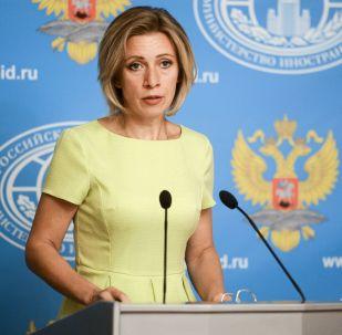 Krievijas Ārlietu ministrijas oficiālā pārstāve Marija Zaharova. Foto no arhīva