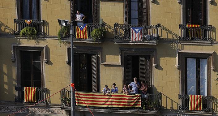 Эстелада, неофициальный флаг каталонских земель