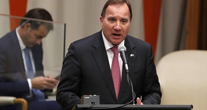 Zviedrijas premjerministrs Stefans Lēvens