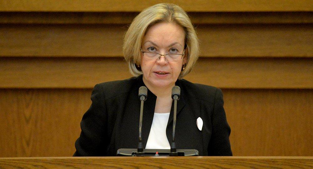 Baltkrievijas ārlietu ministra vietniece Jeļena Kupčina. Foto no arhīva