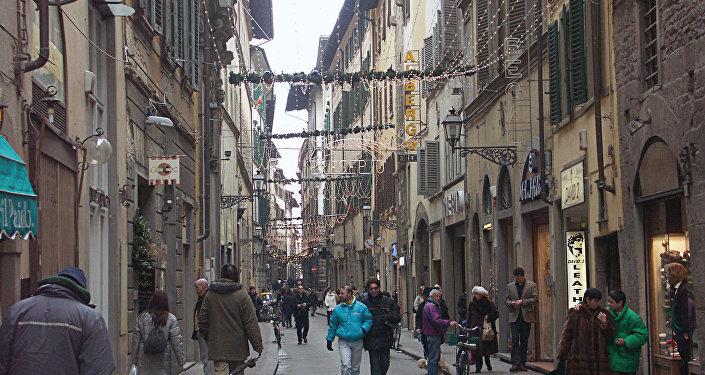 На улице Флоренции