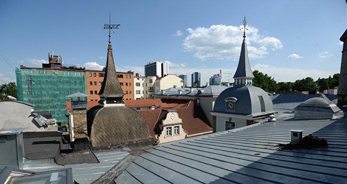 Крыши Старого города в Таллине