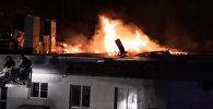 Тушение крупного пожара на складе в Москве. Кадры с места ЧП
