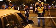 Полицейские оцепили место взрыва в Будапеште