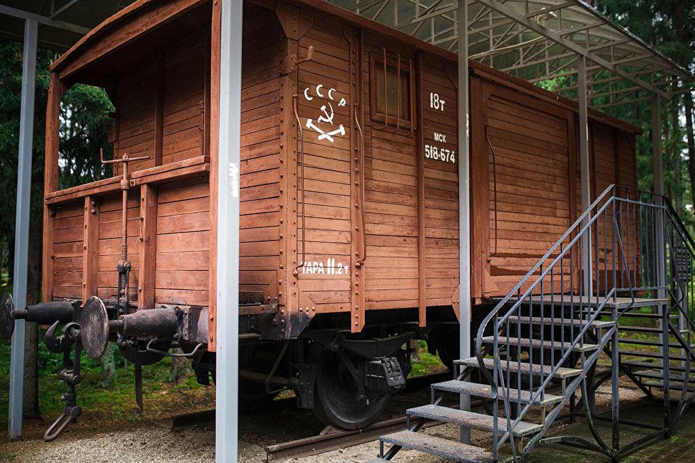 Tādos vagonos Staļina nometnēs tika nogādāti neuzticamiepadomju pilsoņi.