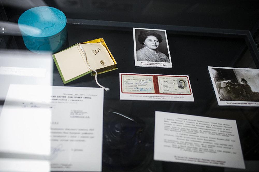 Staļina represiju upuru dokumenti Katiņas memoriālā kompleksa muzejā.