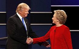 Tramps un Klintone. Foto no arhīva