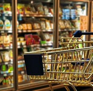 Тележка в супермаркете