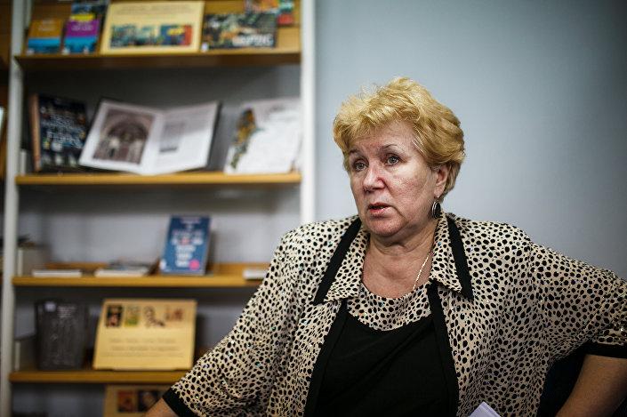 Татьяна Чернова, глава латышского общества Сакснес