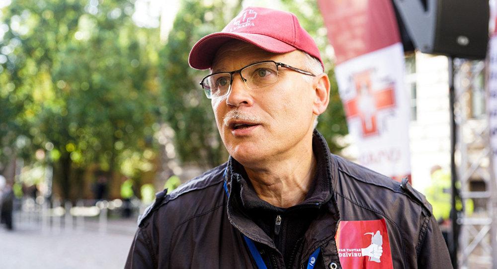Latvijas Veselības un sociālās aprūpes darbinieku arodbiedrības vadītājs Valdis Keris.