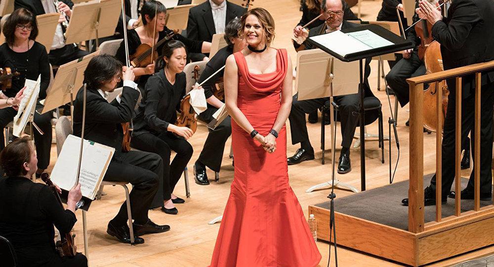 Латвийская оперная певица Кристине Ополайс