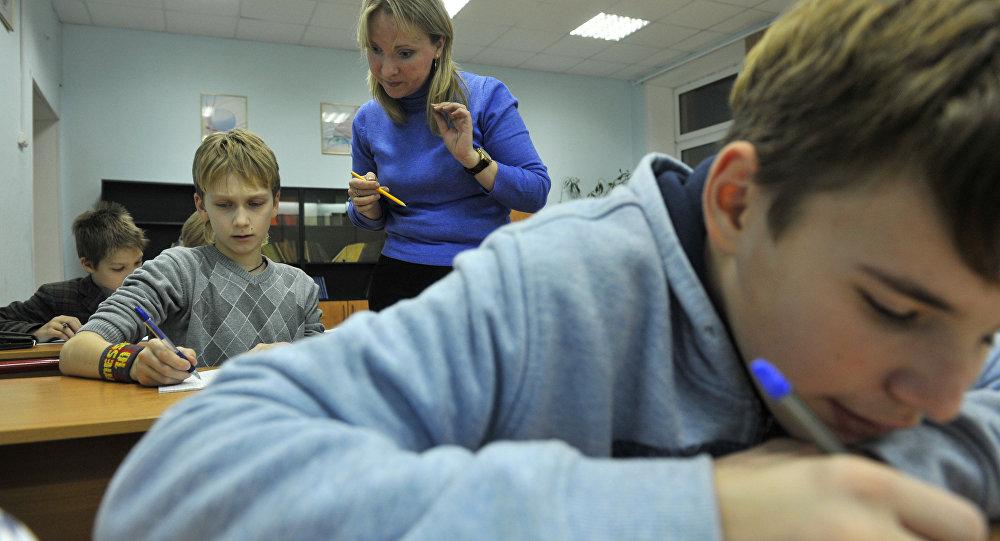 Mācību stunda skolā. Foto no arhīva
