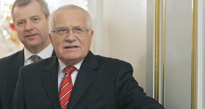 Bijušais Čehijas prezidents Vaclāvs Klauss. Foto no arhīva