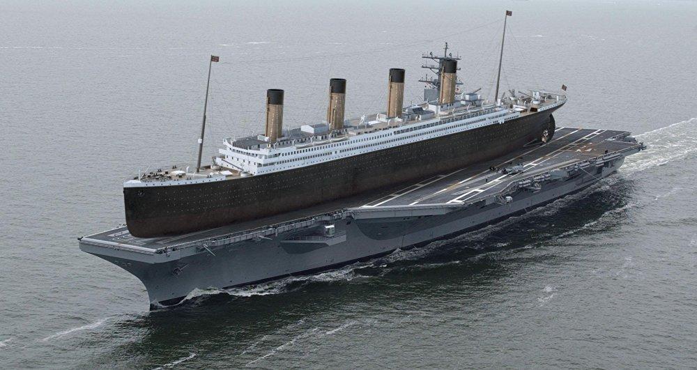 Ilgu laiku Titāniku ar garumu 268 metri uzskatīja par pasaulē lielāko kuģi. Taču amerikāņu lidmašīnu bāzes kuģis Ronalds Reigans ir vēl lielāks – gandrīz 333 metri.