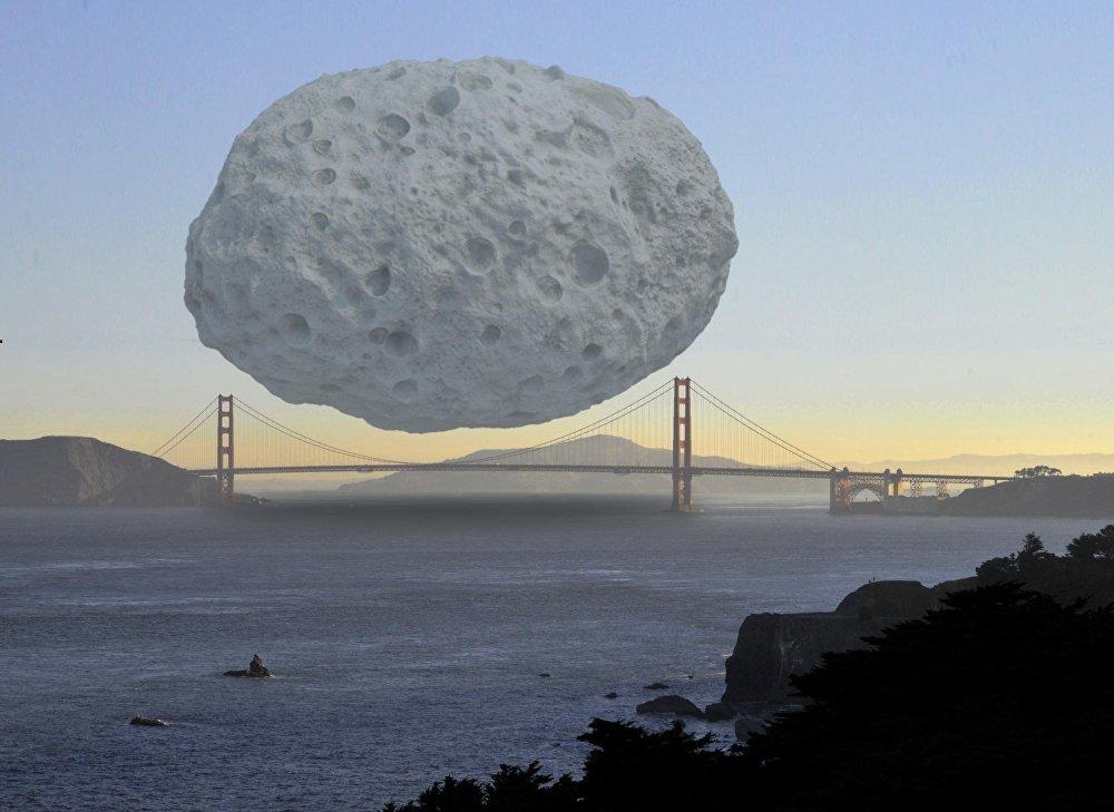 Asteroīds Dionīss ir aptuveni 1,5 km diametrā, un tas ir viens no lielākajiem Apollo jostā. Tomēr tas nevar aizsegt pat vienu Sanfrancisko tilta Zelta vārti posmu.
