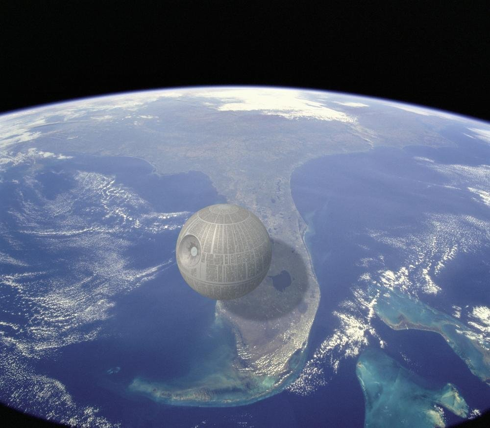 Ja Nāves zvaigzne no Zvaigžņu kariem būtu kādreiz uzbūvēta, tās diametrs būtu aptuveni 159 kilometru garumā, tā ir apmēram Floridas štata teritorijas garuma ceturtdaļa.